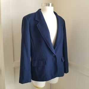 Pendleton 100% virgin wool navy blazer